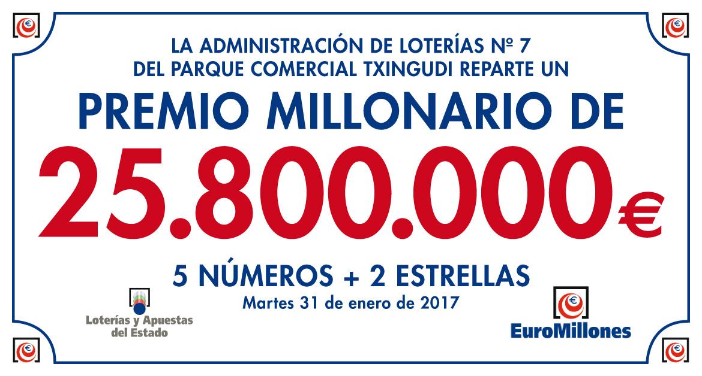 Euromillones: Toca el premio gordo en la Administración de Loterías de Txingudi
