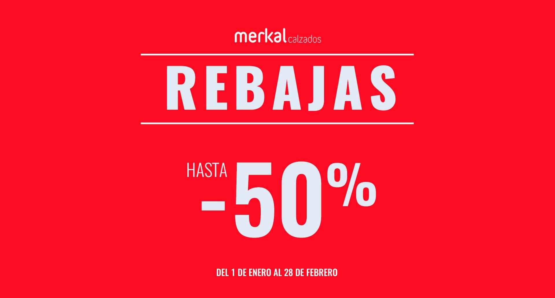 Rebajas de hasta el -50% en Merkal Calzados