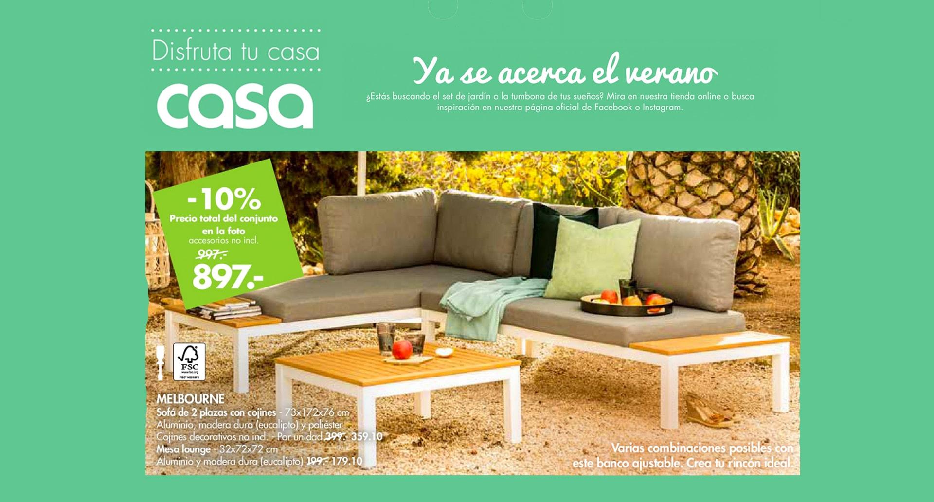 En Casa, -10% en sofá de 2 plazas con cojines Melbourne