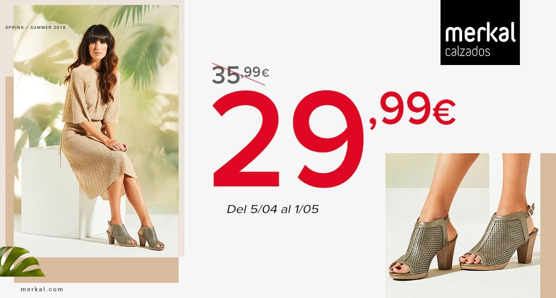 ¡Anímate con las sandalias! En Merkal Calzados tenemos las sandalias ideales para el entretiempo, con un elegante troquelado y un cierre de hebilla. Con y sin tacón, como tú prefieras. Por solo 29,99 €