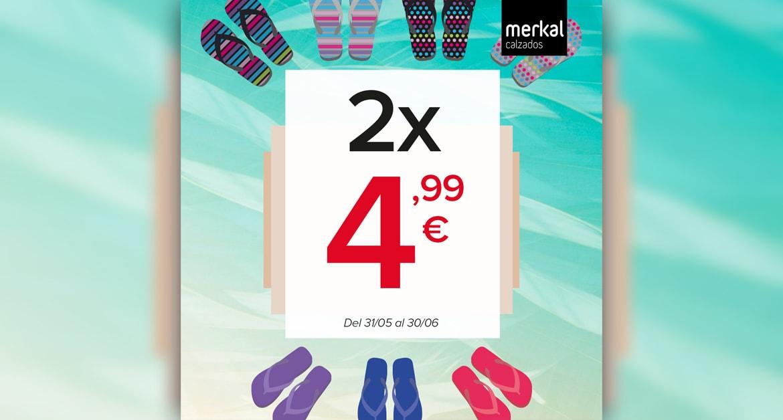 Chanclas a un super precio! 2 x 4,99€. Lisas, estampadas…descubre la amplia gama de colores disponibles, y combínalas como quieras!
