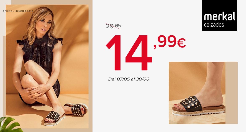 Tenemos la sandalia perfecta al precio perfecto! Acaso conoces una sandalia por 14,99€ con este look con detalle de perlas y remaches metalizados? Con un piso combinado de yute y eva, eleva tus looks veraniegos! Disponible en color negro y nude satinado