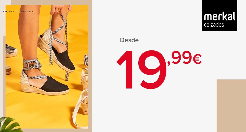 El calzado estrella del verano ya está aquí. Sandalias de esparto comodísimas con diferentes alturas de cuña, y con los estampados que prefieras; lisos, a rayas, con flores, con apliques, con puntilla…desde solo 19,99€ consigue tu look más mediterráneo